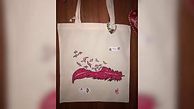 Iné tašky - ♥ Plátená, ručne maľovaná taška ♥ - 9897254_