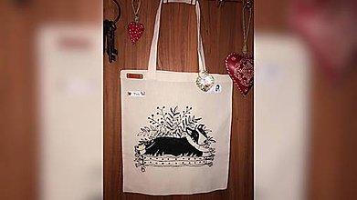 Iné tašky - ♥ Plátená, ručne maľovaná taška ♥ - 9896133_