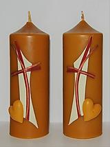 Svietidlá a sviečky - Sviečky z včelieho vosku - oltárne - 9898193_