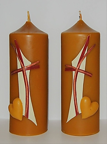 Svietidlá a sviečky - Sviečky z včelieho vosku na želanie - 9898193_