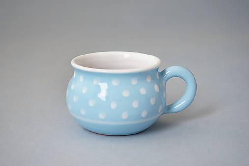 Espresso 5 buclák puntík - světle modrý