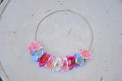 Ozdoby do vlasov - Elastická čelenka s kvetinami - 9897738_
