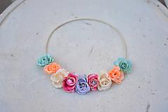 Ozdoby do vlasov - Elastická čelenka s kvetinami - 9897756_