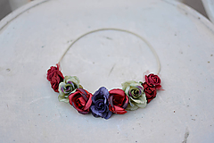 Ozdoby do vlasov - Elastická čelenka s kvetinami - 9897766_