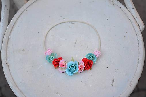 Elastická čelenka s kvetinami