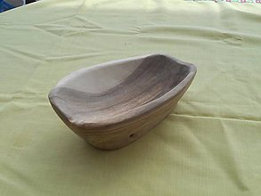 Nádoby - Drevená miska,orechové drevo - 9897082_