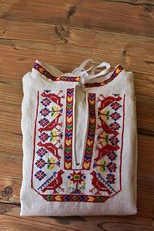 Oblečenie - Liptovská košela vyšívaná - 9896256_
