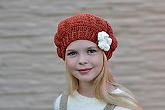 Detské čiapky - Šmrncovná baretka - skladom - 9898178_