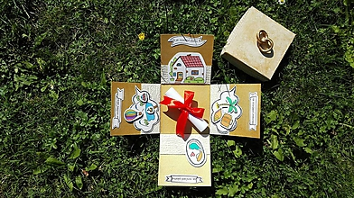 Darčeky pre svadobčanov - Svadobná krabička na peniaze a žreby. 3 - 9898341_