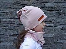 Detské čiapky - Ružový teplákový set - 9898124_