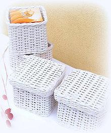 Košíky - kocka na vreckovky - 9897023_