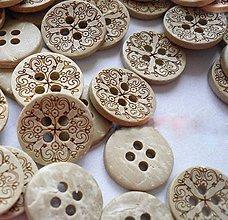 Galantéria - Kokosový gombík 13 mm - 9898618_