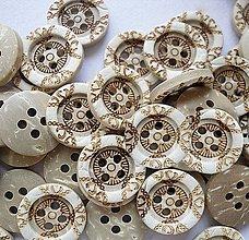Galantéria - Kokosový gombík 13 mm - 9898624_