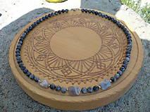 - náhrdelník z Labradoritu nórskeho-oceľ - 9896873_