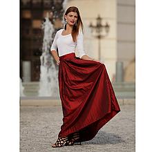 Sukne - Taftová spoločenská sukňa-červená - 9901887_