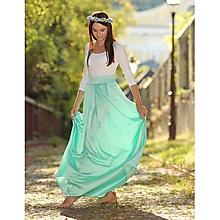 Sukne - Saténová sukňa mint - 9901940_