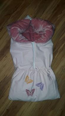 Textil - Deko-fusak s motýľami - 9901886_