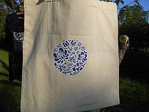 Nákupné tašky - blue folk-modrá - 9901966_