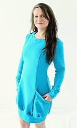 Tehotenské/Na dojčenie - 3v1 dojčiace TEPLÉ šaty, veľ. L-XL - viac farieb v ponuke - 9899080_