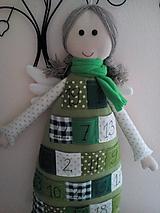 Hračky - adventný anjel v zelených farbách - 9899624_