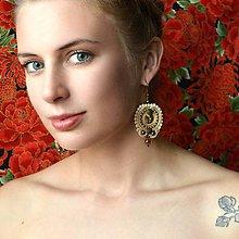 Náušnice - Oriental n.20 - sutaškové náušnice - 9899255_