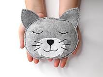 Mini hrejivý vankúš (Mačička)