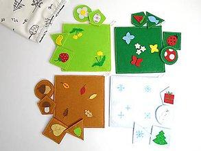 Hračky - Montessori: Základné tvary, farby a ročné obdobia 3 v 1 (Montessori: Ročné obdobia) - 9899169_