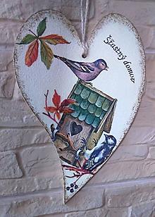 Tabuľky - Drevené srdce - Šťastný domov - 9901159_