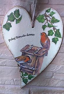 Tabuľky - Pokoj tomuto domu - vtáčiky pod brečtanom - 9901181_
