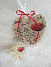 Darčeky pre svadobčanov - Magnetka ako poďakovanie pre rodičov - 9898943_