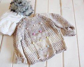 Detské oblečenie - Sivý svetrík - 9899778_