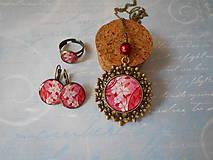 Sady šperkov - Poľný kvietok červený - 9899026_