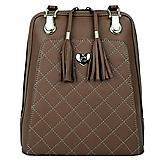 Kožený ruksak z pravej hovädzej kože v hnedej farbe