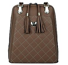Batohy - Kožený ruksak z pravej hovädzej kože v hnedej farbe - 9899660_