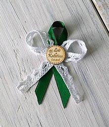 Pierka - Svadobné pierko - Kruh gravír  (zelená) - 9899787_