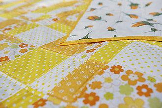 Úžitkový textil - Patchworková deka - 9900147_