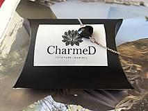 Náramky - Strieborný náramok s príveskom Swarovski Heart / Silver bracelet with Swarovski Heart charm - 9900015_