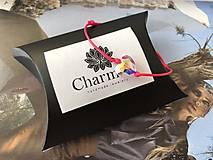 Náramky - Šnúrkový náramok s príveskom Swarovski Heart - 9900042_