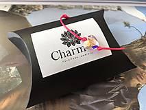 Náramky - Šnúrkový náramok s príveskom Swarovski Heart - 9900043_