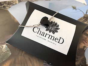 Náramky - Strieborný náramok s príveskom Swarovski Heart / Silver bracelet with Swarovski Heart charm - 9900007_