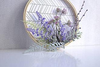 Dekorácie - Kvetinový veniec malý ,,bylinky,, - 9901906_