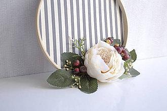 Dekorácie - Kvetinový veniec malý ,,ruža,, - 9901949_