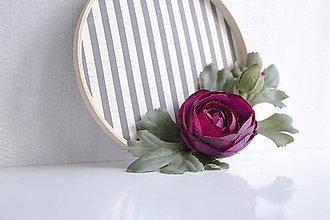 Dekorácie - Kvetinový veniec malý ,,ranunculus,, - 9901963_