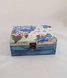 Krabičky - krabička kvet a vtáčik - 9901826_