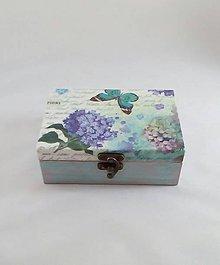 Krabičky - krabička kvet a motýľ - 9901861_