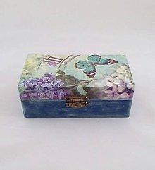 Krabičky - krabička motýľ a kvet - 9901907_