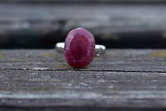 Prstene - Rubín prsteň Ag 925 - 9900464_