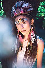 Ozdoby do vlasov - Romantická, nežná okrúhla indiánka - 9900882_