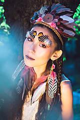 Ozdoby do vlasov - Romantická, nežná okrúhla indiánka - 9900894_