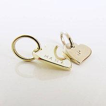 Náhrdelníky - MiniLoveMe / Au585 (Dve srdiečka (malé a veľké)) - 9899568_